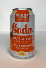 Wild Tea Kombucha Wild Tea Kombucha - Soda, Orange Pop with Ginseng
