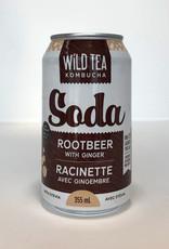 Wild Tea Kombucha Wild Tea Kombucha - Soda, Root Beer with Ginger