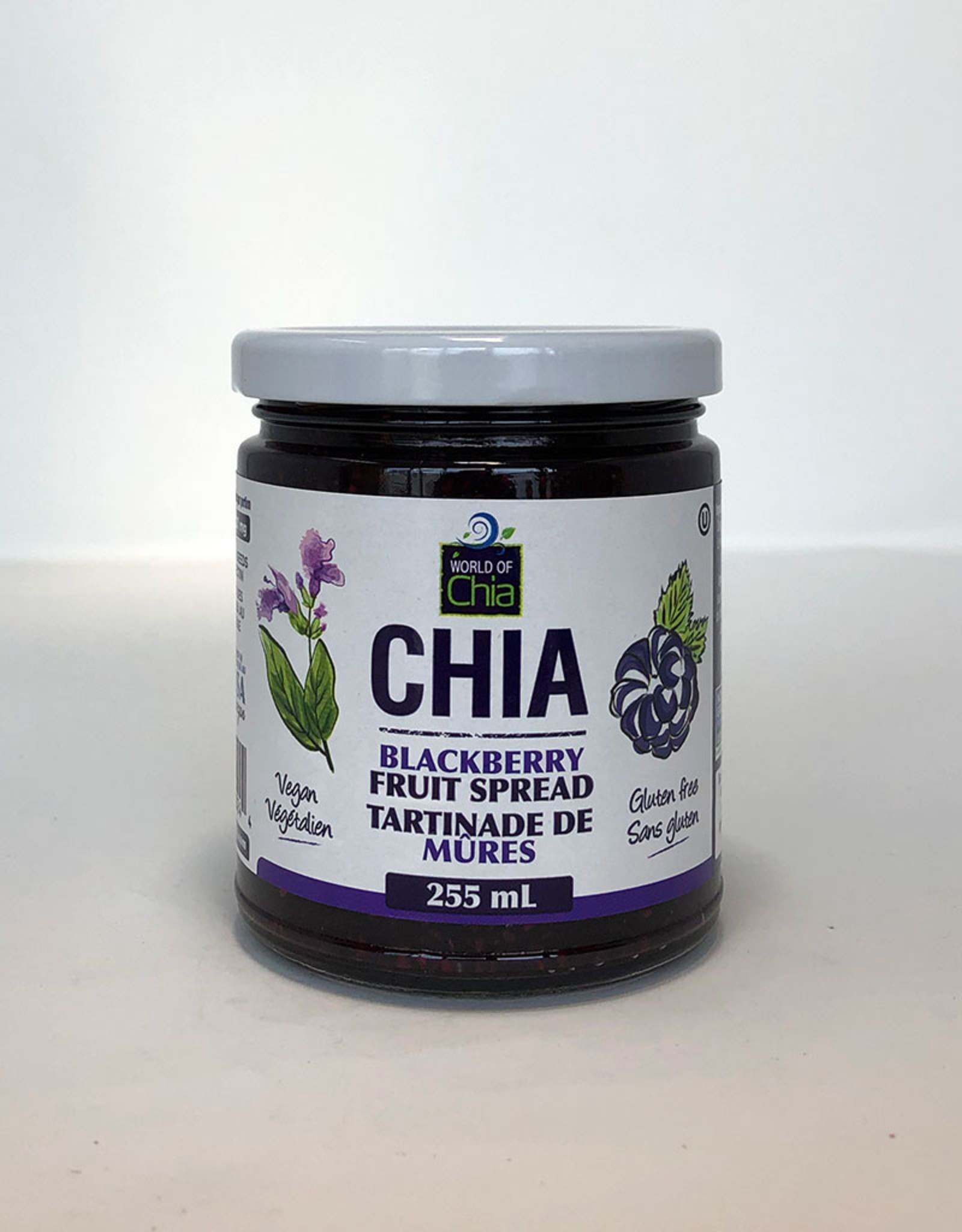 World of Chia World of Chia - Chia Jam Spread, Blackberry (255ml)