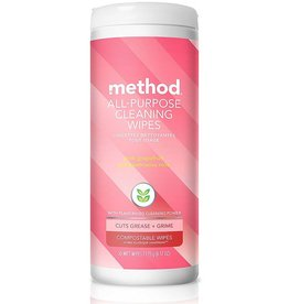 Method Method - All-Purpose Cleaning Wipes, Pink Grapefruit