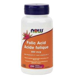 NOW Foods NOW Foods - Folic Acid 800mcg + B12 25mcg (250tab)