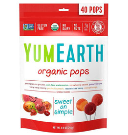 YummyEarth Inc. Yum Earth - Candy, Organic Fruit Pops (Bag)