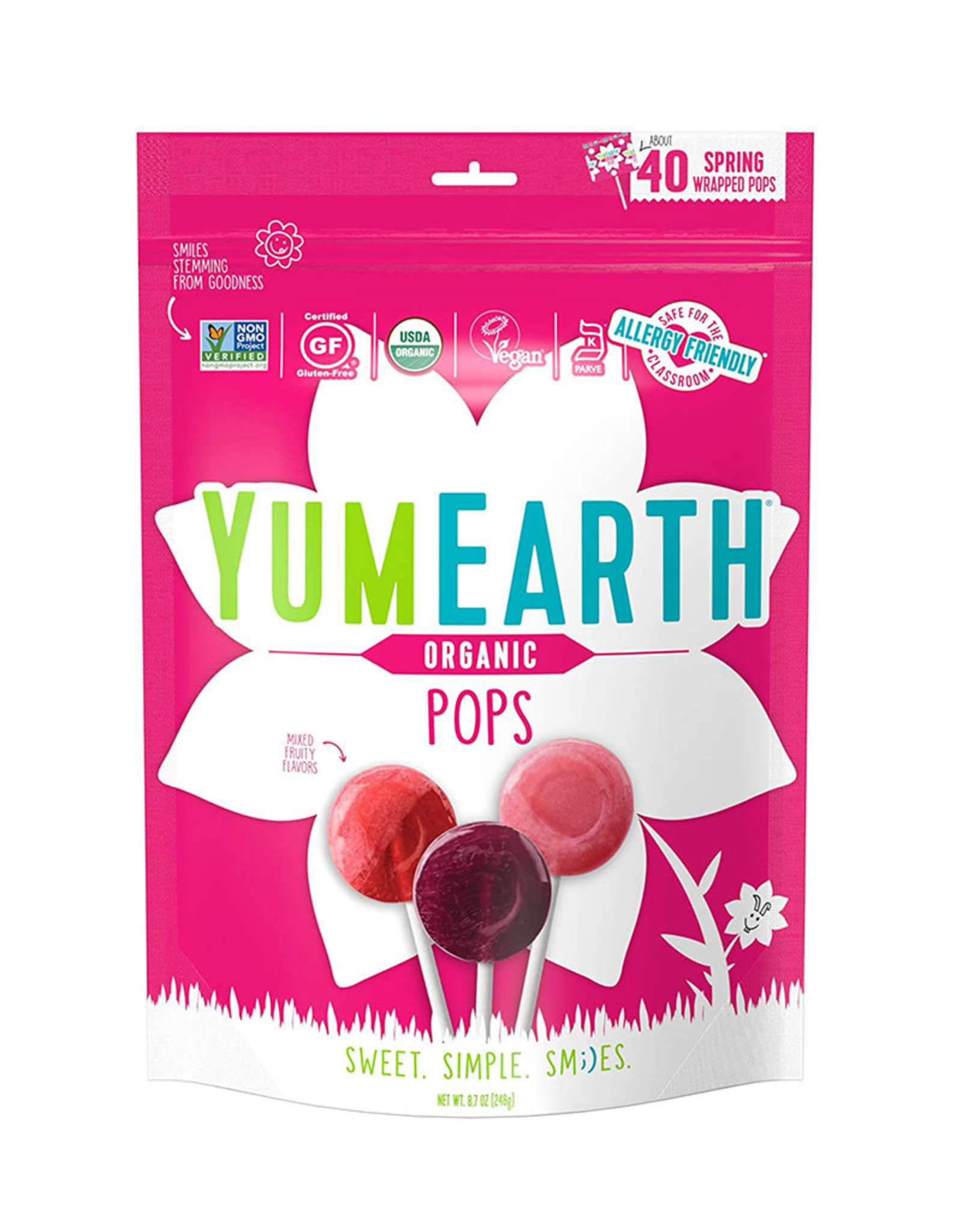 YummyEarth Inc. Yum Earth - Candy, Organic Easter Fruit Pops (247g)