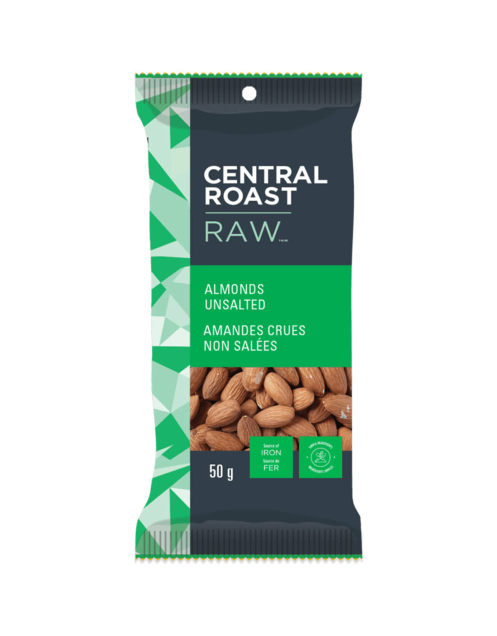 Central Roast Central Roast - Raw Almonds, Unsalted (50g)