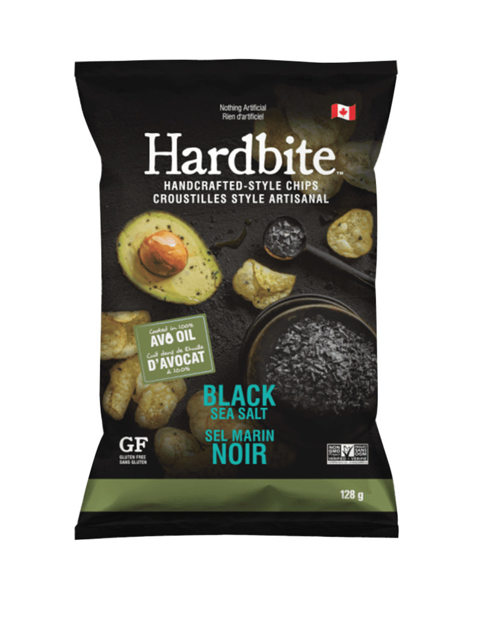 Hardbite Hardbite - Chips, Black Sea Salt with Avocado Oil (128g)
