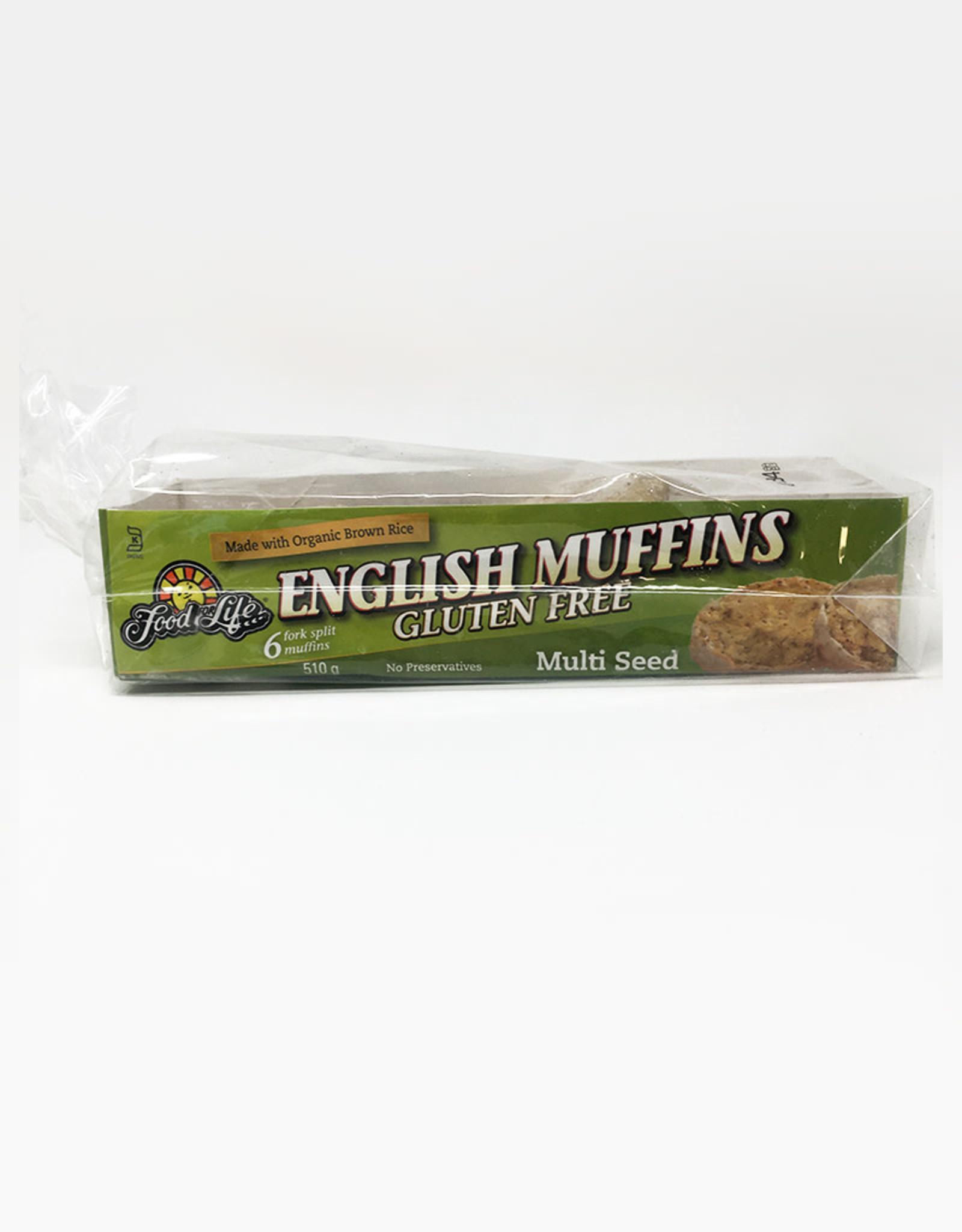 Food for Life FFL - English Muffins, GF Multi-Seed (510g)