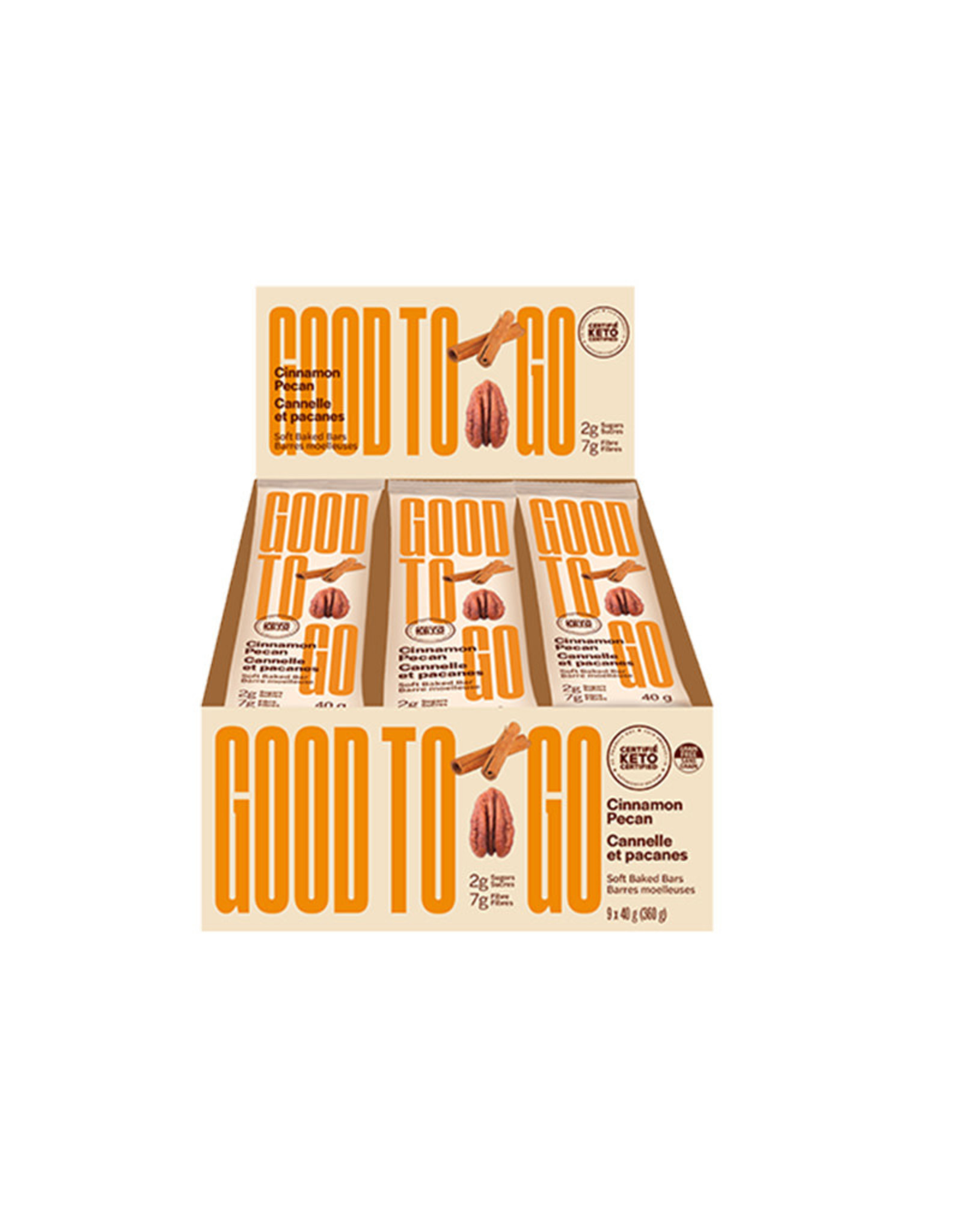 Good To Go Good To Go - Keto Bar, Cinnamon Pecan (Box of 9)
