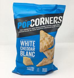 Popcorners Popcorners - Popped Corn Chips, White Cheddar (142g)
