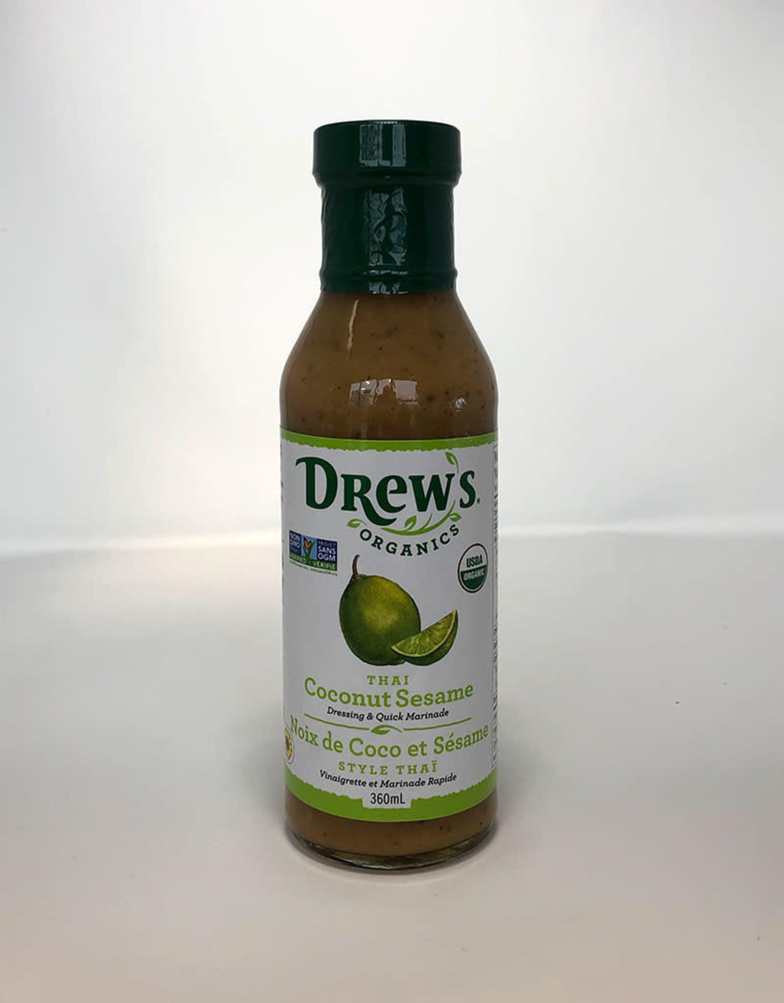Drew's Organics Drews - Oranic Dressing, Thai Coconut Sesame (360ml)