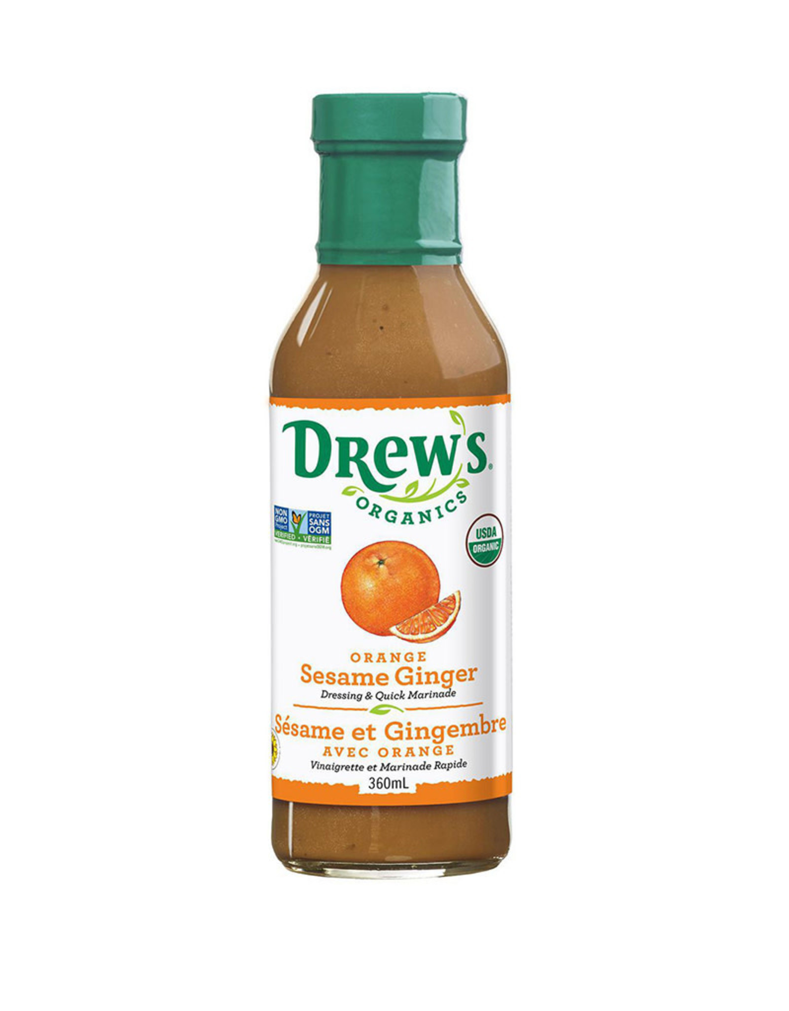Drew's Organics Drews - Oranic Dressing, Orange Sesame Ginger (360ml)