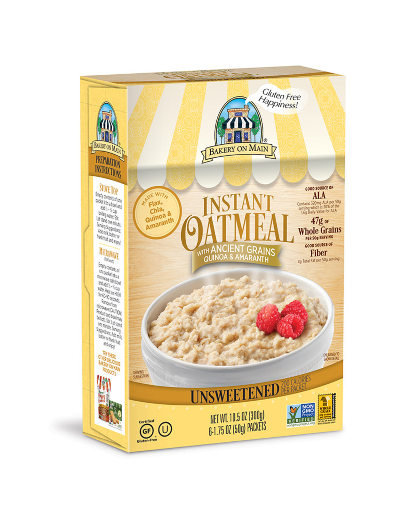 Bakery on Main Bakery on Main - Instant Hot Cereal, Traditional (box)
