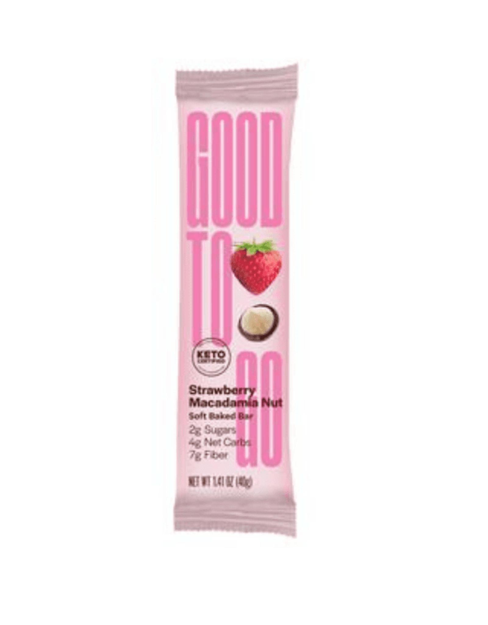 Good To Go Good To Go - Keto Bar, Strawberry Macadamia (40g)