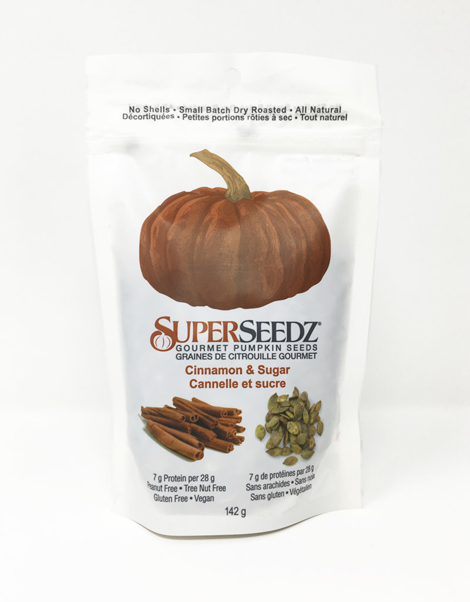 Superseedz Superseedz - Gourmet Pumpkin Seeds, Cinnamon & Sugar (142g)