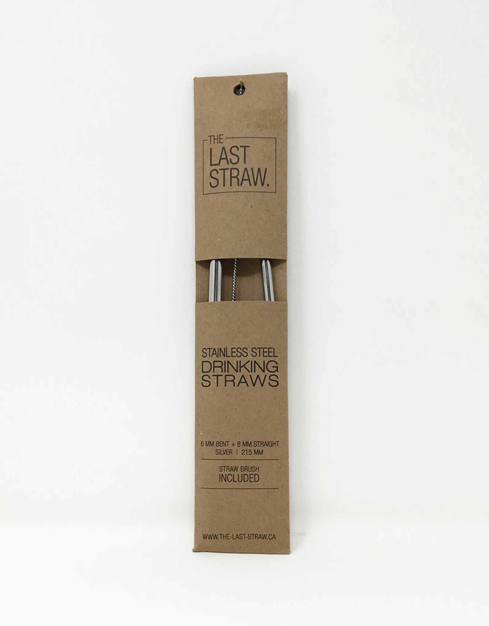 The Last Straw The Last Straw - Stainless Straw Duo, Silver w/Brush