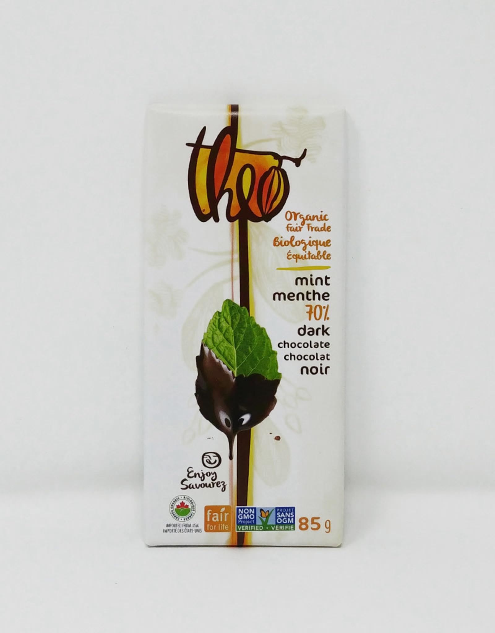 Theo Theo - Organic Chocolate Bars, Mint 70%