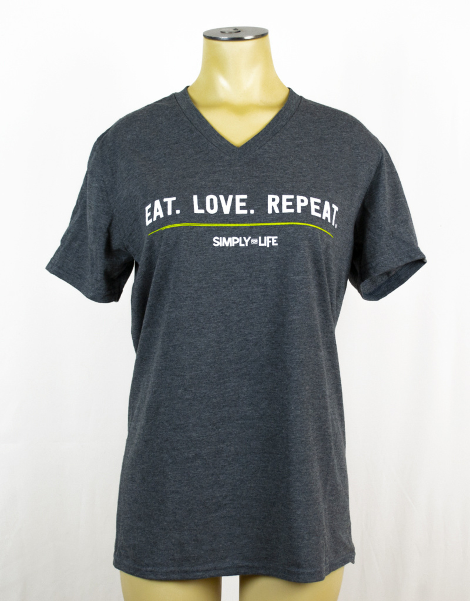 Simply For Life T-Shirt V-neck - Eat Love Repeat