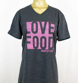 Simply For Life T-Shirt V-neck - Love Food
