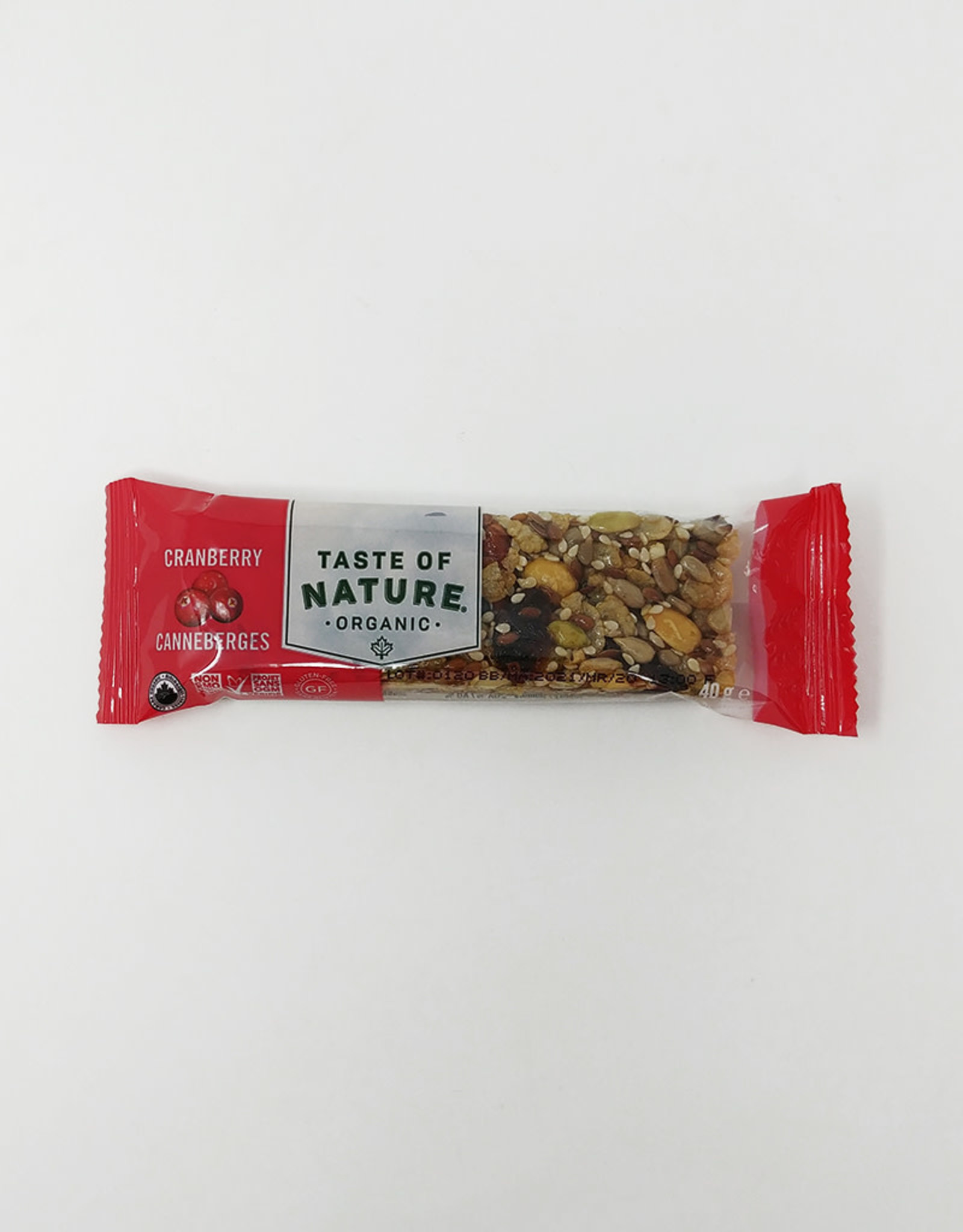 Taste of Nature Taste of Nature - Snack Bars, Cranberry