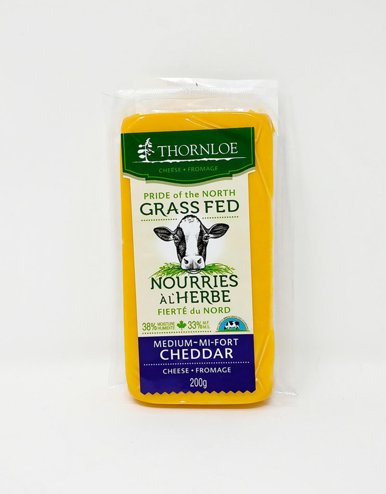 Thornloe Thornloe - Grass Fed Cheese, Cheddar Medium (200g)
