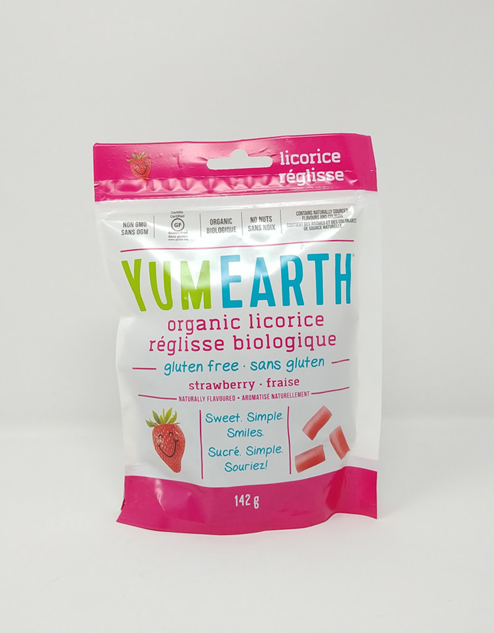 YummyEarth Inc. Yum Earth - Candy, Organic Licorice, Strawberry (Bag)