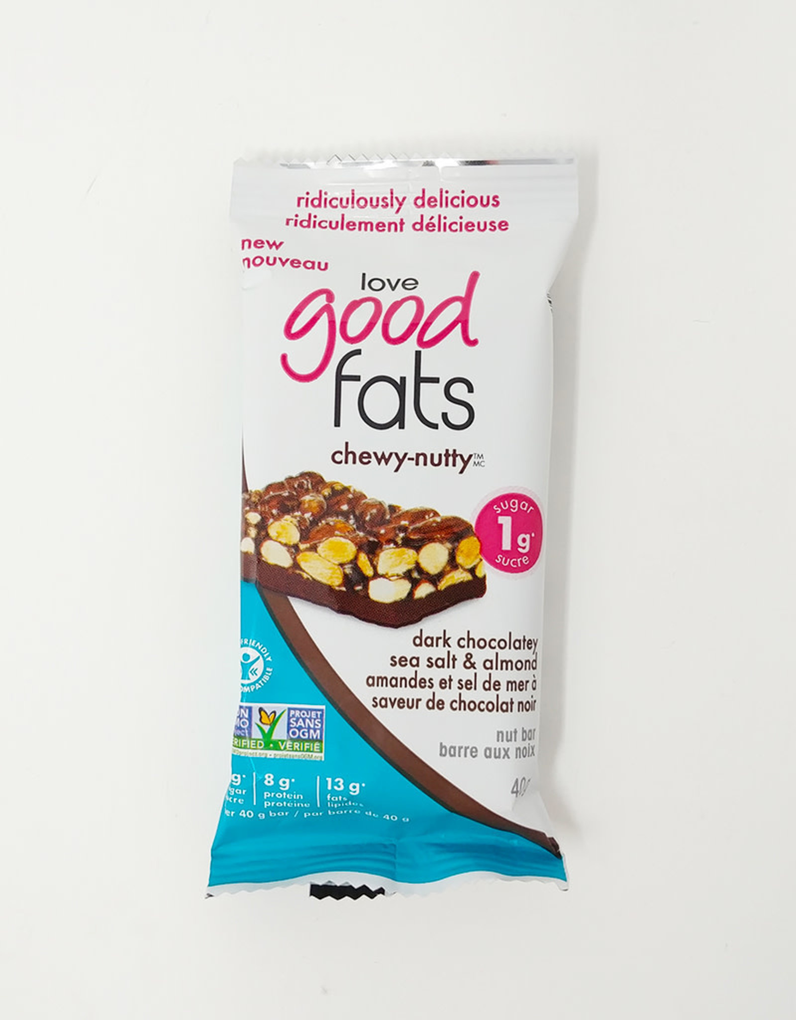 Love Good Fats Love Good Fats - Chewy-Nutty Dark Chocolatey Sea Salt (40g)