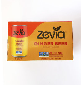 Zevia Soda Zevia - Mixer, Ginger Beer (6pk)