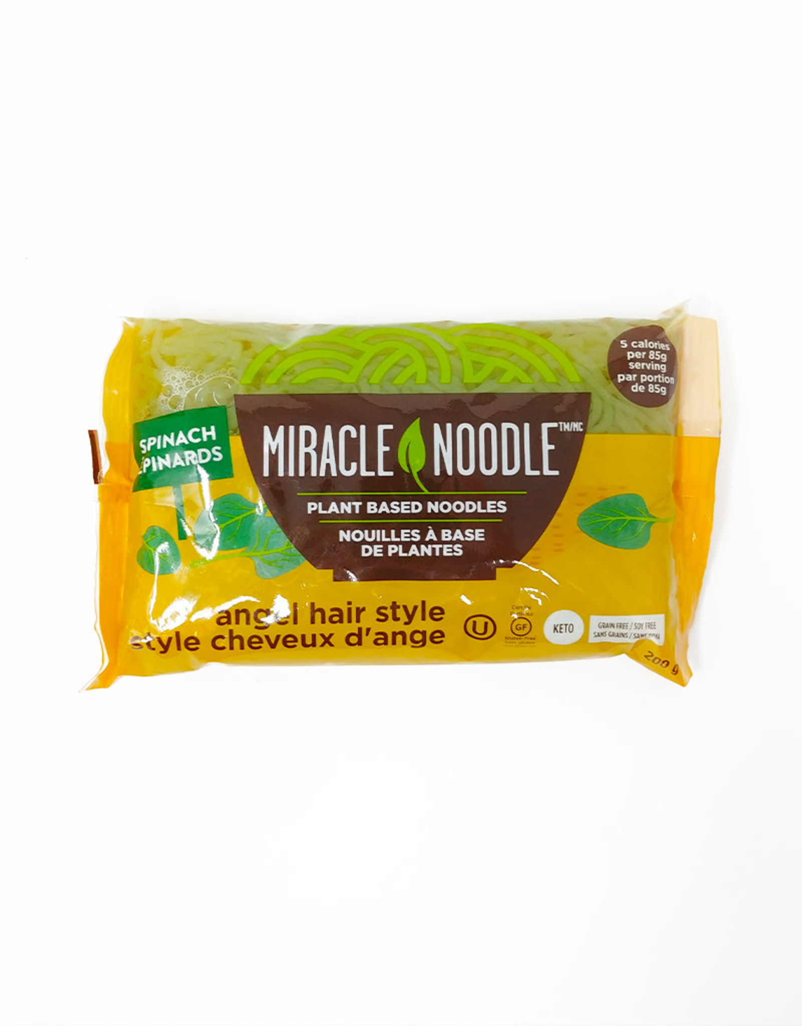 Miracle Noodle Miracle Noodle - Plant Noodles, Angel Hair Spinach (200g)