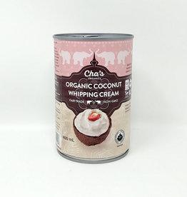 Cha's Organics Chas Organics - Coconut Whipping Cream (400ml)