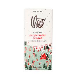 Theo Theo - Organic Chocolate Bars, Dark Chocolate Peppermint Crunch