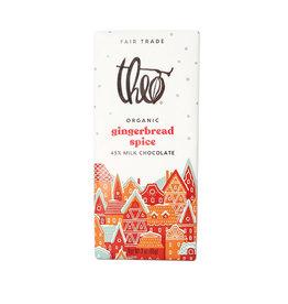 Theo Theo - Organic Chocolate Bars, Milk Chocolate Gingerbread Spice