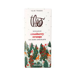 Theo Theo - Organic Chocolate Bars, Dark Chocolate Cranberry Orange