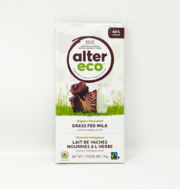 Alter Eco Alter Eco - Grass Fed Chocolate Bars, Milk Chocolate