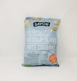 Savor Savor - Kettle Popcorn, White Cheddar (125g)