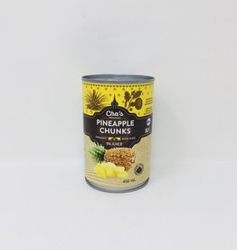 Cha's Organics Chas Organics - Pineapple Chunks in Juice (400ml)