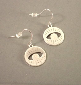 Kirsten Elise Jewelry Round Eye Earrings, sterling silver