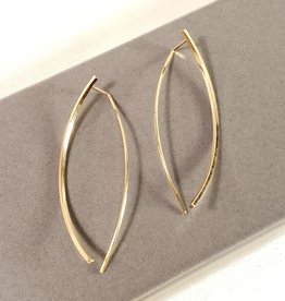 Annika Inez Long Arc front and back square wire earrings