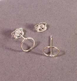 Peter James Jewelry Large Simple Circle Post Earrings, Sterling Silver - Peter James Jewelry