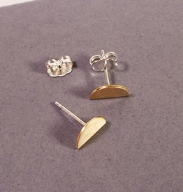 Peter James Jewelry Half Circle Stud Earrings in Gold Fill