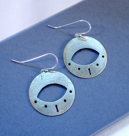 Amaree and Reese Lasercut Brass Earrings with Eye Shapes