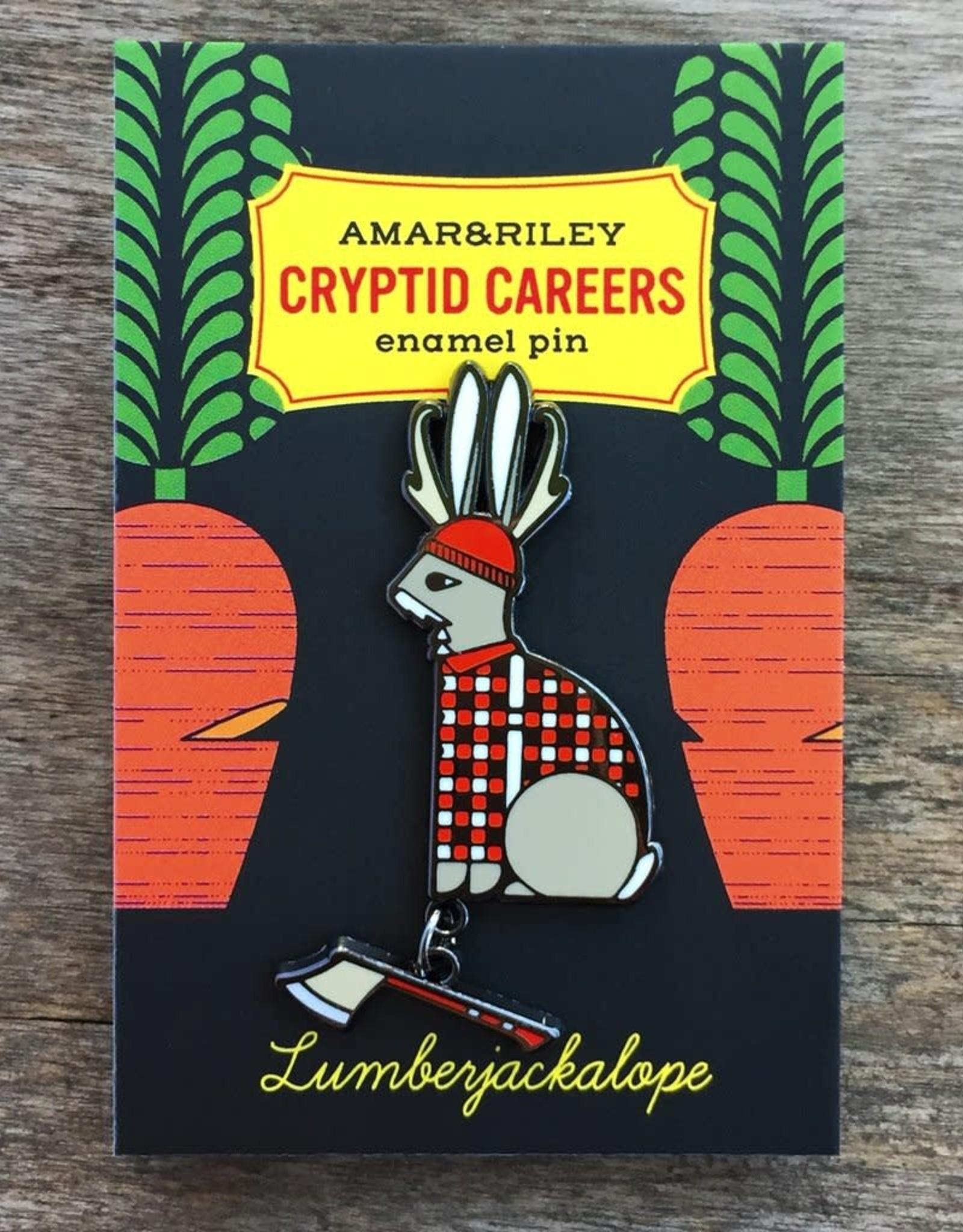 Amar & Riley ''Lumber Jackalope'' Enamel Pin  - Amar & Riley