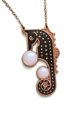 Amar & Riley Calypso Necklace, Seahorse with Cabochons - Amar&Riley