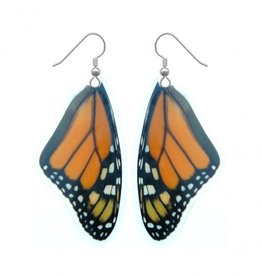 Asana Natural Arts Monarch Butterfly Top Wing Earrings, Laminated - Asana Natural Arts