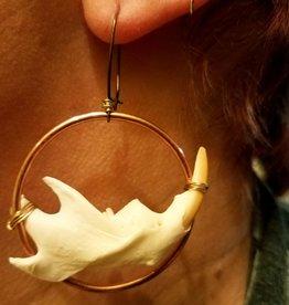 Muskrat Jaw Copper & Brass Hoop Earrings