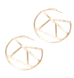 "2.25"" Brass ''Stained Glass'' Geometric Circle Earrings - INK+ALLOY"