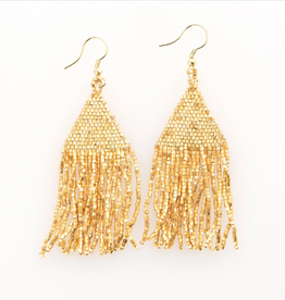 """3"""" Gold Seed Bead Earrings - INK+ALLOY"""