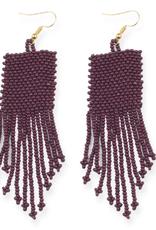 "Ink + Alloy 3.75"" Seed Bead Dangle Earrings, Port - INK+ALLOY"