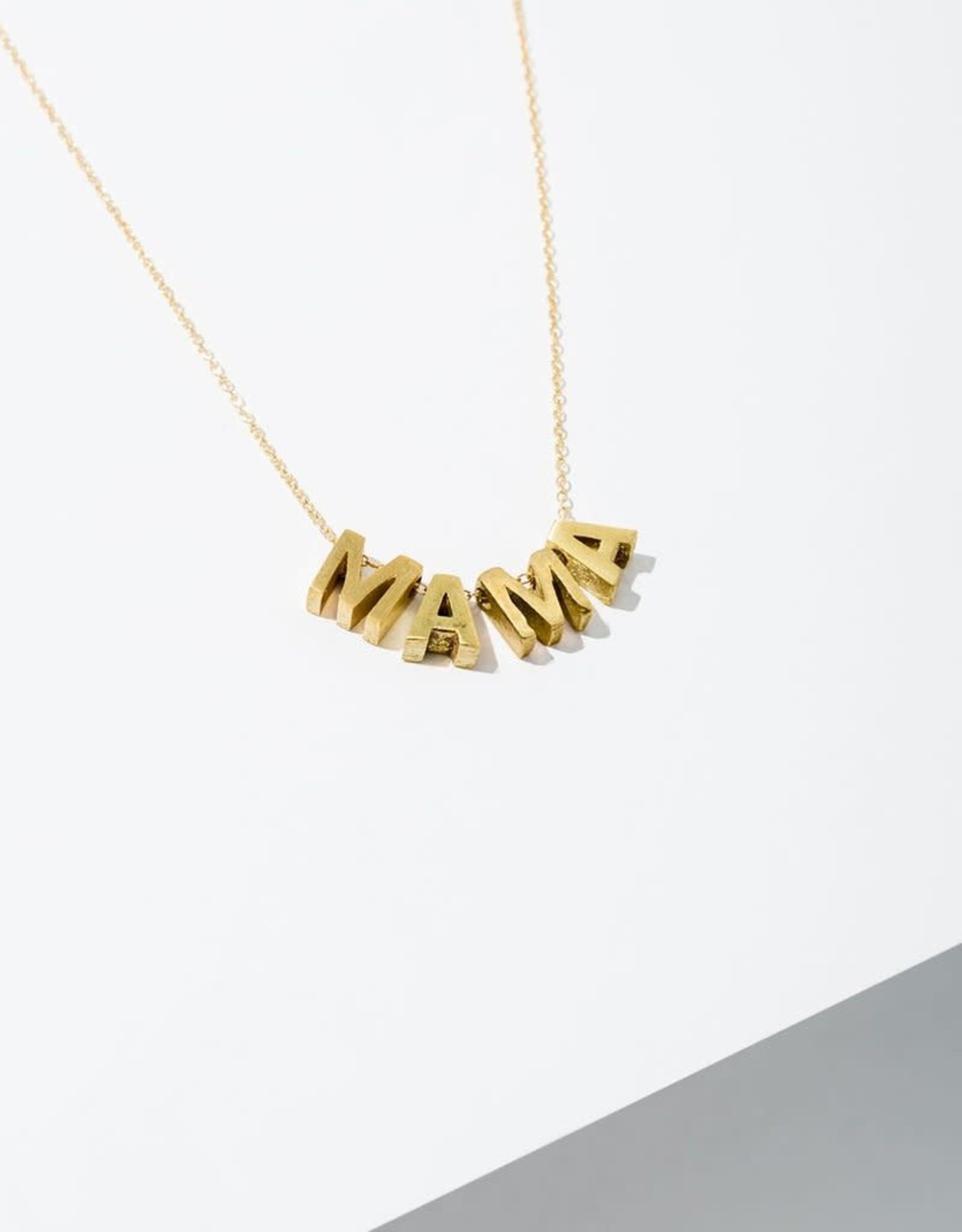 Larissa Loden Brass MAMA Necklace - Larissa Loden
