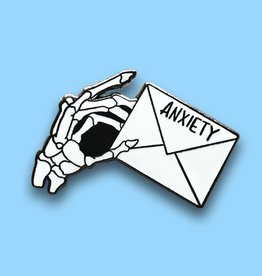 ''Anxiety'' Enamel Pin - Double Denim Dude