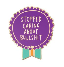 Emily McDowell ''Stopped Caring about Bullshit'' Everyday Bravery Enamel Pin - Emily McDowell