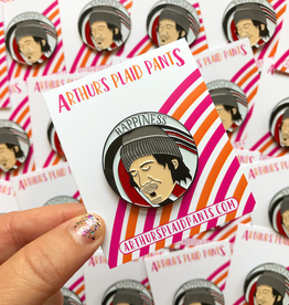 Elliott Smith enamel pin by Arthur's Plaid Pants